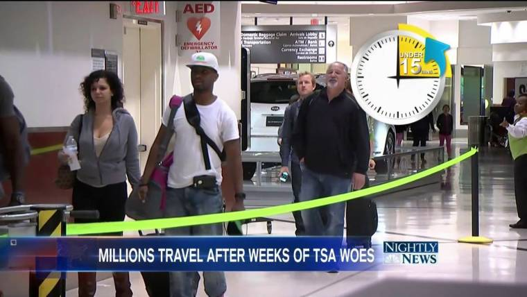TSA Under Pressure as 34 Million Expected to Hit the Roads ...