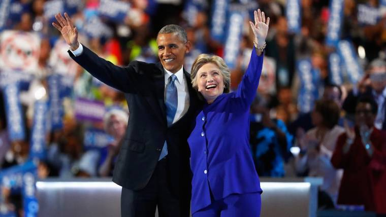 President Obama Heaps Praise on Hillary Clinton at DNC