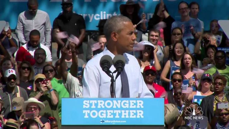 Obama Steps in to Stump for an Embattled Clinton