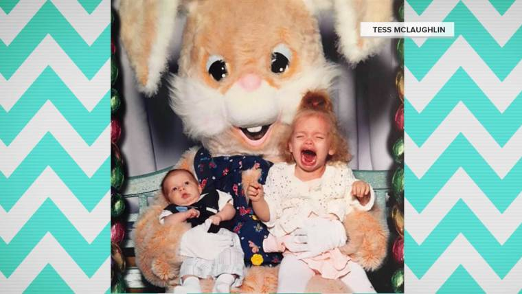 see funny photos of kids who are scared of the easter bunny