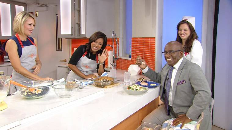 Dylan and Sheinelle serve up their signature dishes for Al