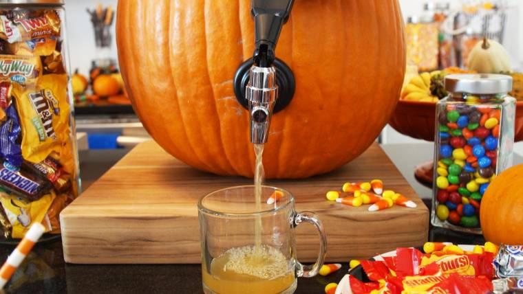 how to make a pumpkin keg for halloween