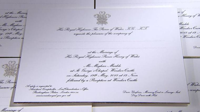 Invitation To The Wedding | Meghan Markle And Prince Harry S Wedding Invitation Is Revealed