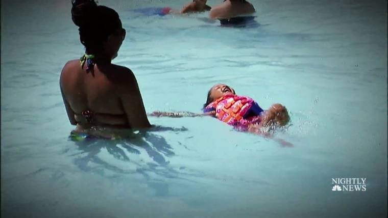 Cold water shock drowning and how to prevent it for Putting shock in pool