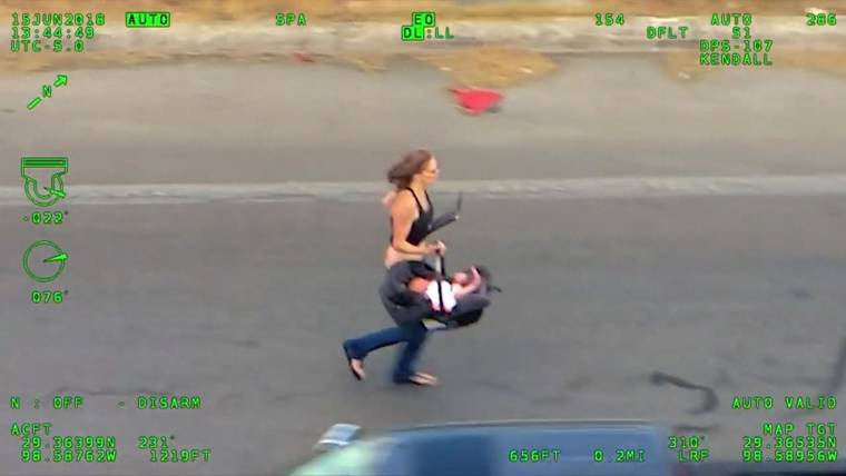 New Video Shows Police On High Speed Chase For Woman Baby