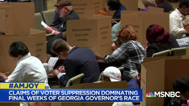 Voter suppression accusations intensify in Georgia and North Dakota