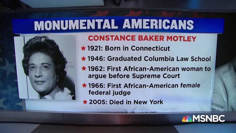The first African-American female federal judge #MonumentalAmerican