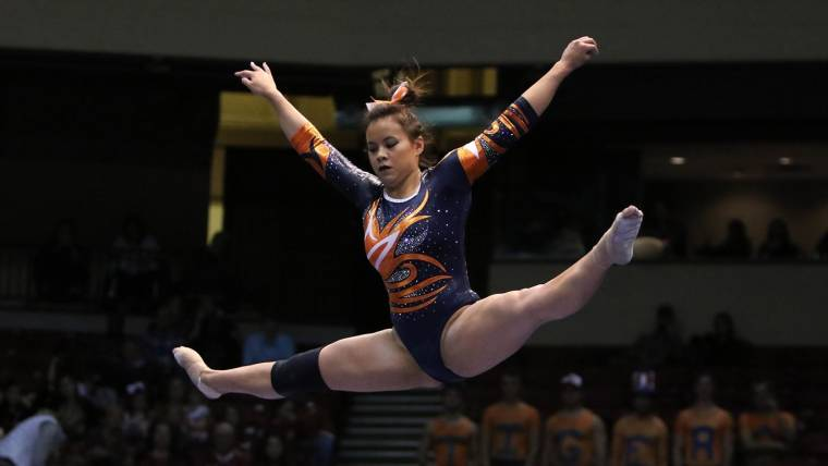 831434f7a43c Auburn gymnast Samantha Cerio suffers devastating injuries during  competition