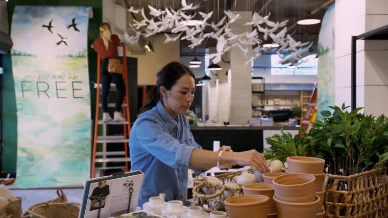 Joanna Gaines Son Crew Plucks A Leaf Off Of Handmade Tree Video