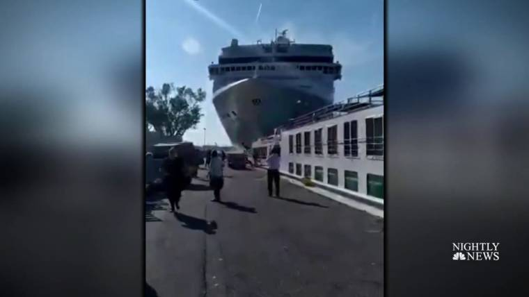 Huge cruise ship plows into tourist boat in Venice on