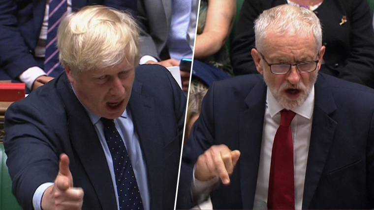 Image result for images of Boris Johnson in Parliament
