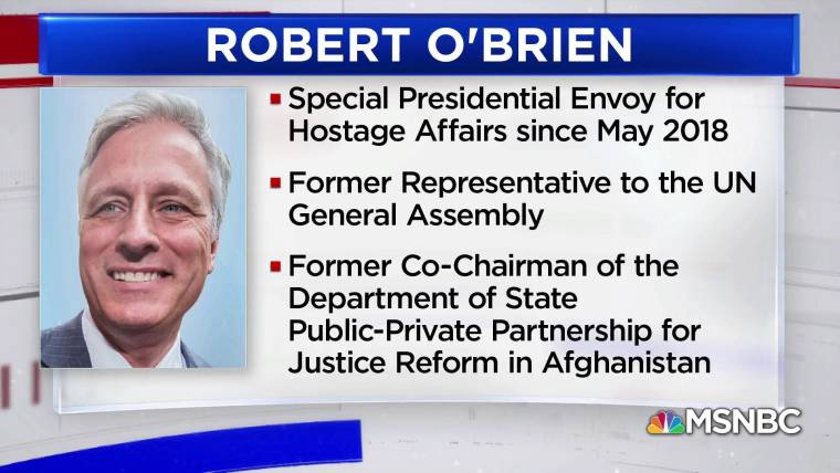 Image result for Trump named Robert O'Brien