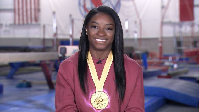 Simone Biles shares incredible video of her diving on vacation