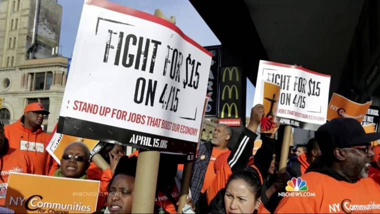 Fast Food Workers Protest for Higher Wages on Tax Day