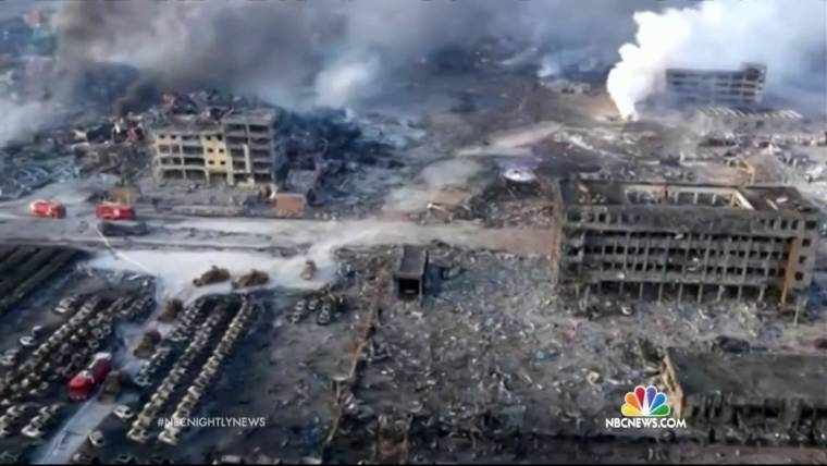 Tianjin, China, Explosion Area Evacuated as Death Toll Rises to At Least 104