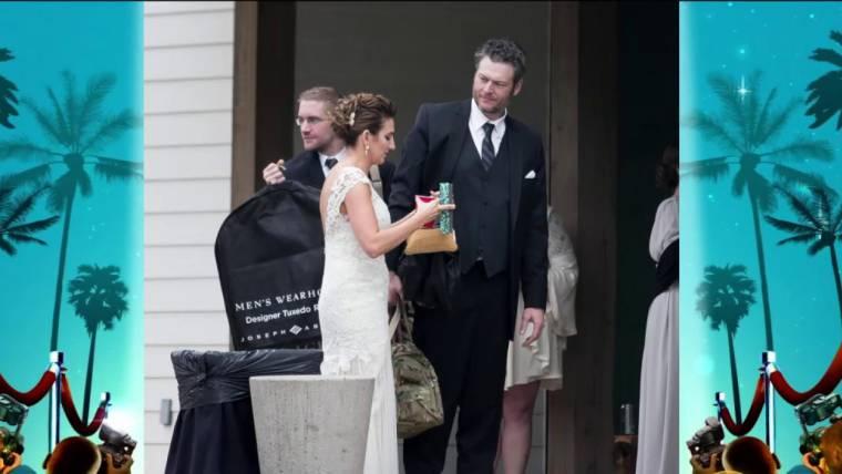 Blake Shelton And Gwen Stefani Wedding Pictures.Blake Shelton And Gwen Stefani Attend A Wedding See Who Caught The