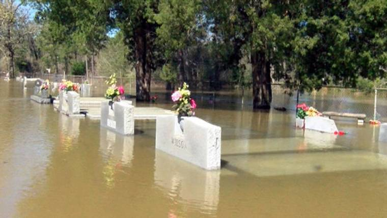 southern flooding bring caskets to surface in louisiana