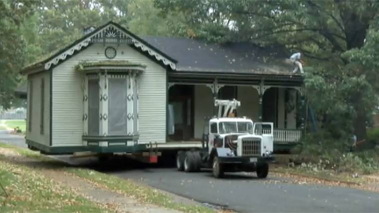 Historic Home's Move a Slow Go on