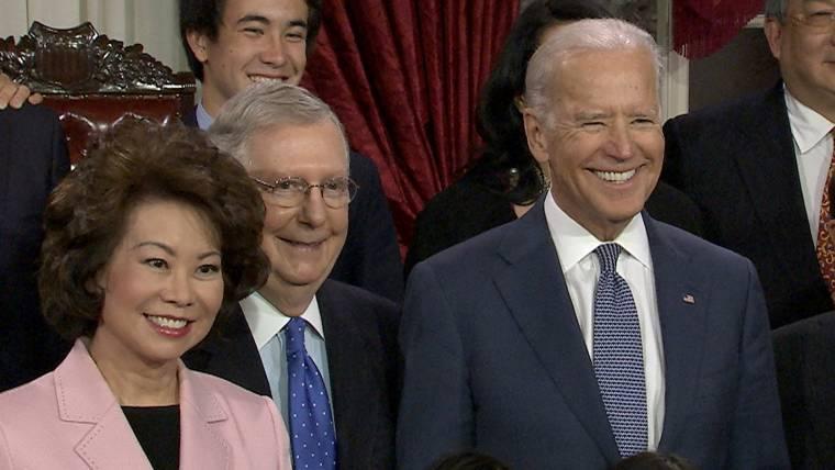 VP Goes Full Biden for Senate Swearing-In Ceremony