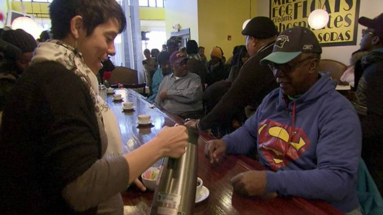 Friendship 9 Members Re-Enact Sit-In at Lunch Counter