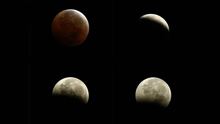 'Blood Moon' Graces Predawn Skies