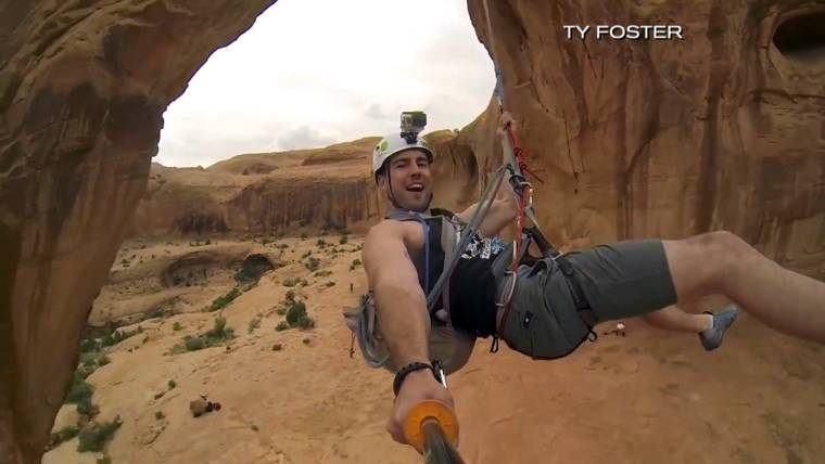 Daredevils Swing From Utah Arches Has The Stunt Gone Too Far