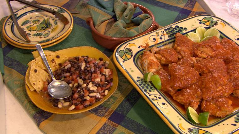 5-ingredient chipotle chicken plus bean salad makes a great weeknight meal