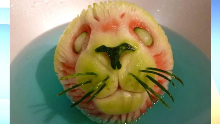 Too pretty to eat? Artist makes quirky watermelon sculptures