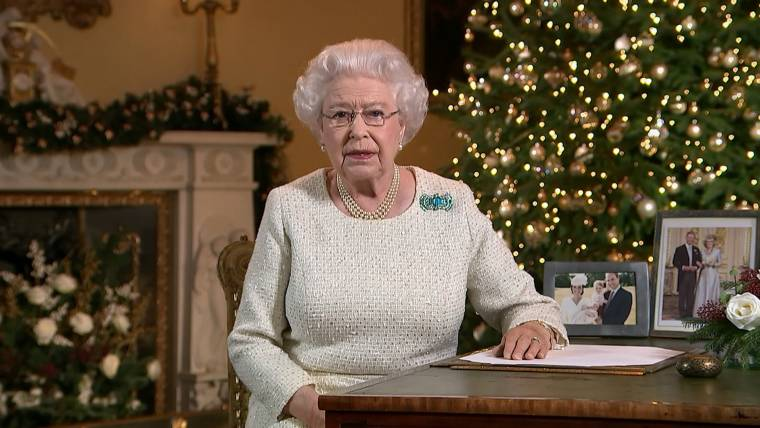 Hope At Christmas.Queen Elizabeth Delivers Message Of Hope At Christmas